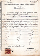 1893  DOCUMENTO COMMERCIALE CON MARCA DA BOLLO - Italia