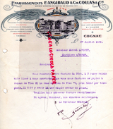 16 -COGNAC  - FACTURE IMPRIMERIE LITHOGRAPHIE TYPOGRAPHIE-ETS F. ANGIBAUD & CH. COLLAS - 1921 - Carte Assorbenti