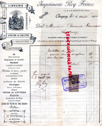 71 - CHAGNY- FACTURE IMPRIMERIE ROY FRERES- LIBRAIRIE-ATELIER RELIURE- LITHOGRAPHIE- 67 BD. LIBERTE- 1901- SANTENAY - Carte Assorbenti