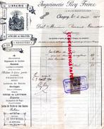 71 - CHAGNY- FACTURE IMPRIMERIE ROY FRERES- LIBRAIRIE-ATELIER RELIURE- LITHOGRAPHIE- 67 BD. LIBERTE- 1901- SANTENAY - Blotters