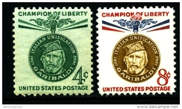 UNITED STATES/USA - 1960  GIUSEPPE GARIBALDI  SET  MINT NH - Estados Unidos
