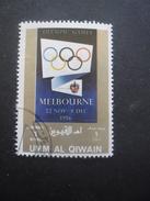 Umm Al Qiwain JEUX OLYMPIQUES De MELBOURNE 1956 Oblitéré