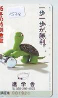 Télécarte Japon * TORTUE  (1528)  PHONECARD JAPAN * 290-44873 *TURTLE *  TELEFONKARTE * SCHILDKRÖTE - Turtles