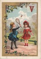 Chromos - Chromo Enfants Fillettes - Jeux Volant Badminton - Autres