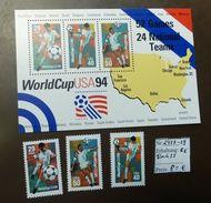 USA Block 33  2457 -59 1994 Fußbal  ** MNH   #4822 - World Cup
