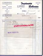 86 - POITIERS - FACTURE IMPRIMERIE ROBINEAU- M. MAISONNEUVE- 24 RUE GRANDES ECOLES- LITHOGRAPHIE TYPOGRAPHIE-1936 - Carte Assorbenti
