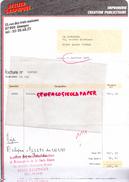 87 - LIMOGES- FACTURE ATELIER GRAPHIQUE- IMPRIMERIE CREATION PUBLICITAIRE- 13 RUE DES 3 MAISONS- 1985 - Blotters