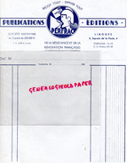 87 - LIMOGES - IMPRIMERIE PUBLICATIONS PERFRAC- RESISTANCE ET RENOVATION FRANCAISE-4 SQURE POSTE- GUERRE 1939-1945- - Buvards, Protège-cahiers Illustrés