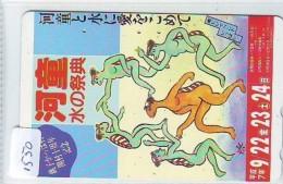 Télécarte Japon * TORTUE  (1550)  PHONECARD JAPAN * 110-699 * TURTLE *  TELEFONKARTE * SCHILDKRÖTE - Turtles
