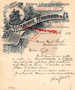 16 - COGNAC - BELLE FACTURE MARIAGE ANGIBAUD -IMPRIMERIE LITHOGRAPHIE- RUE DE CHATEAUDUN-1919 - I