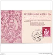 VLCATPA3189CPA-LFTMD9456TEEX.Tarjeta Postal DE VALENCIA.Exposicion.ESCRITOR,filatélica Homenaje A LOPE DE VEGA.VALENCIA - Exposiciones