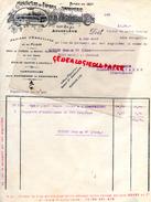 16 - ANGOULEME - FACTURE MANUFACTURE PAPIERS -IMPRIMERIE- DUPUY & CIE- USINE BEL AIR- HENRI LEVEQUE PHARMACIEN AMBAZAC- - Buvards, Protège-cahiers Illustrés