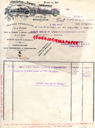 16 - ANGOULEME - FACTURE MANUFACTURE PAPIERS -IMPRIMERIE- DUPUY & CIE- USINE BEL AIR- HENRI LEVEQUE PHARMACIEN AMBAZAC- - Carte Assorbenti