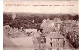 GRAND-FOUGERAY: Perspective De La Rue Du Château Et Tour Du Glesclin - France