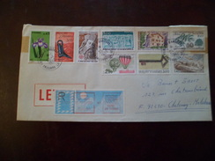Lettre Recommandée Le 30/1/1989 Andorre Les N°254;284;289;291;310;332;335; 365 Et 367; Et Vignette D'affranchissement TB - Cartas