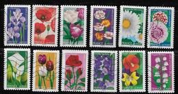 FRANCE   USED  #5072-83,  Flowers   USED - France