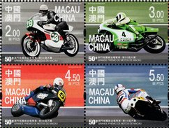 Macao - 2016 - 50th Macao Motorcycle Grand Prix - Mint Stamp Set