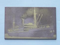 """O.a. Het Schip / Ship / Bateau Le """" ANVERSVILLE """" En 2 Andere / Te Identificeren / Identificier ( Details Zie Foto ) ! - Plaques De Verre"""
