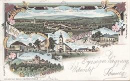 Litho Gruss Aus LANDSEE (LANZSER-ROL, Ungarn), Gel.1900?, Verlag Schwidernoch, Karte Auf Rückseite Mit Klebespuren S.Sca - Autriche