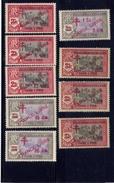 France  INDIA  FRANCE LIBRE  1943   MNH,  SCOTT #201-09  INCOMPLETE SET - Inde (1892-1954)