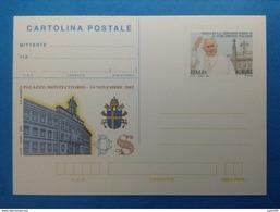 2002 ITALIA CARTOLINA POSTALE NUOVA NEW MNH** VISITA PAPA GIOVANNI PAOLO II A MONTECITORIO - - Interi Postali