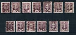 Danzig Michel Nr. P 15 - 25 X+Y Postfrisch Mit Falz - Danzig