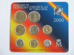 Coffret FDC ESPAGNE 2000 - Monedas Espanolas De Curso Legal  **** EN ACHAT IMMEDIAT **** - Mint Sets & Proof Sets