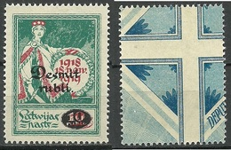 LETTLAND Latvia 1921 Michel 69 MNH - Lettonie
