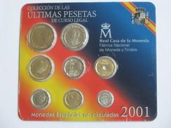 Coffret FDC ESPAGNE 2001 - Monedas Espanolas De Curso Legal  **** EN ACHAT IMMEDIAT **** - Mint Sets & Proof Sets
