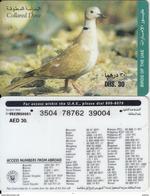 U.A.E. - Bird, Collared Dove, Etisalat Prepaid Card Dhs 30(reverse 4), Used