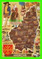 CARTES GÉOGRAPHIQUES - MAPS -ARDECHE, LANQUEDOC - CAP-THÉOJAC - - Cartes Géographiques