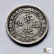 Hong Kong - 5 Cents - 1893 - Hong Kong