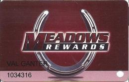 Meadows Racetrack & Casino - Washington, PA USA - Slot Card - Casino Cards