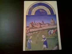 Les Très Riches Heures Du Duc De Berry Juin Le Palais Et La Sainte Chapelle Les Foins - Peintures & Tableaux
