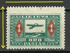 LITAUEN Lithuania 1932 Michel 106 Abart Variety Hohe Marke * - Lithuania