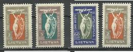 LITHUANIA Litauen 1921 , 4 Stamps * - Lithuania