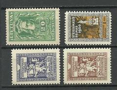 LITHUANIA Litauen 1920 Michel 77 - 79 & 84 *