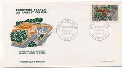 TERRITOIRE FRANCAIS DES AFARS ET DES ISSAS - DJIBOUTI - FDC - RESIDENCE DU GOUVERNEUR LEONCE LAGARDE A OBOCK - 30/05/69-