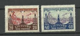 LITAUEN Lithuania 1930 Michel 310 - 311 MNH - Lithuania