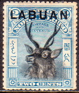 NORTH BORNEO LABUAN 1897 SG #90 2c MH(heavy Hinge) Perf.14 CV £27 - North Borneo (...-1963)