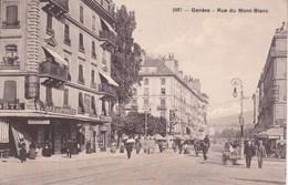 CPA  GENEVE (Suisse).  Rue Du Mont-blanc, Animé, Commerce Café- Restaurant De La Poste, Attelage . ...F175 - GE Genève