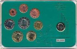 BELGIUM BELGIQUE BELGIEN COMMEMORATIVE EURO COINS SET BIMETAL IN FOLDER - Belgium