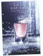 CPM Eau De Toilette LA VIE EST BELLE Parfum Lancôme Carte à Systeme Parfumée Echantillon Recto 10/15 Cm - Parfumkaarten