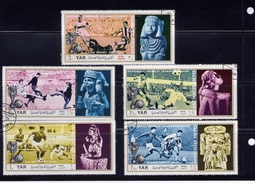 YEMEN ARABIC REPUBLIC, USED  MICHEAL # 1160-64 USED   Possibly Incomplete Set - Yémen