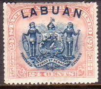 NORTH BORNEO LABUAN 1897 SG #100a 24c MH(heavy Hinge) Perf.15 CV £50 - North Borneo (...-1963)