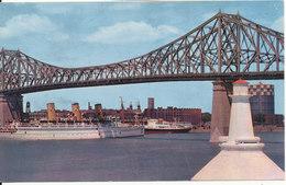 Canada Postcard Sent To Denmark Montreal 27-6-1962 (Jacques Cartier Bridge) - Montreal