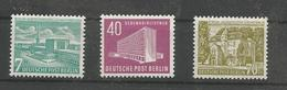 "BERLIN MiNr 121-123 Postfrisch - Freimarken ""Berliner Bauten"" Aus 1954 - Berlin (West)"