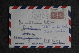 Enveloppe Envoyée Par Avion Du CANADA à TOULON - Brieven En Documenten