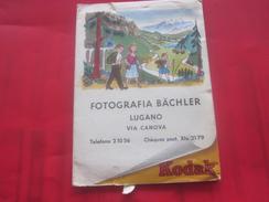 Ancienne Pochette Photographique KODAK FILM-LUGANO-ITALIA FOTOGRAFIA   Photo-Négatif-Pellicule Photographie Accessoire - Materiale & Accessori