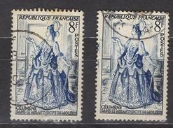 FRANCE 1953 - Y.T. N° 956 X 2 TP OBLITERES /  K88 - France